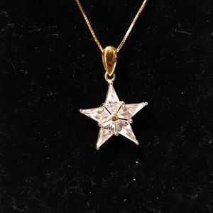 "14K Yellow Gold ""Diamond"" Star Pendant"